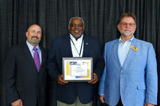 """<div class=""""source"""">Submitted photo</div><div class=""""image-desc"""">Bardstown City Councilman Bill Sheckles, center, was one of nearly 200 city officials recognized for educational achievement by the Kentucky League of Cities at its 2017 Conference and Expo Oct. 4, which was attended by about 500 city officials and leaders. The City Officials Training Center is a voluntary educational awards program. Sheckles received a Level I Achievement in City Governance award. He is shown with J.D. Chaney, KLC's assistant director, and Sadieville Mayor Claude Christensen, who was sworn in as the new president.</div><div class=""""buy-pic""""></div>"""
