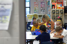 "<div class=""source"">KACIE GOODE/The Kentucky Standard</div><div class=""image-desc"">Kindergartners practice writing their names and drawing self portraits on the first day of school at Bardstown Primary. Bardstown Independent Schools started back Tuesday.</div><div class=""buy-pic""><a href=""/photo_select/88061"">Buy this photo</a></div>"