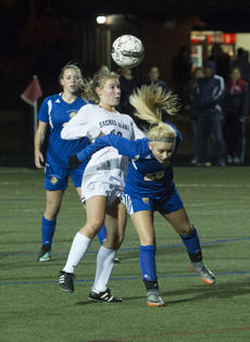 "<div class=""source"">PETER W. ZUBATY/The Kentucky Standard</div><div class=""image-desc"">Bethlehem&#039;s Abigail Proctor, right, and Sacred Heart&#039;s Callie Birk clash for a ball during the Banshees&#039; 4-0 loss in last year&#039;s girls&#039; state soccer sectionals. Proctor, who has committed to Eastern Kentucky, led all local players last year with 31 goals and 21 assists.</div><div class=""buy-pic""></div>"