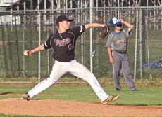 "<div class=""source"">Peter W. Zubaty</div><div class=""image-desc"">Reece Puckett pitched Bardstown to an 11-9 win Tuesday over Bethlehem, keeping the Tigers in the mix for the top seed in the 19th District tournament.</div><div class=""buy-pic""></div>"