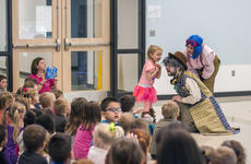 """<div class=""""source"""">KACIE GOODE/The Kentucky Standard</div><div class=""""image-desc"""">Actors John Yazzo and Nora Moutrane engage their audience at the Nelson County Early Learning Center. The pair were on their very first tour with Bright Star, a touring theatre company based in North Carolina.</div><div class=""""buy-pic""""><a href=""""/photo_select/84155"""">Buy this photo</a></div>"""