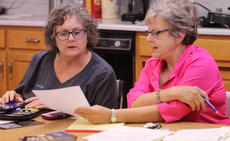 """<div class=""""source"""">Dennis George/Contributing Photographer</div><div class=""""image-desc"""">Mayor Rhonda Hagan and City Clerk Jean Jury review the agenda before Monday's Bloomfield City Council meeting.</div><div class=""""buy-pic""""><a href=""""/photo_select/89207"""">Buy this photo</a></div>"""
