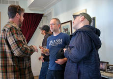 """<div class=""""source"""">KACIE GOODE/The Kentucky Standard</div><div class=""""image-desc"""">Kentucky brewers chat while enjoying the tasting room at Willett Distillery Monday afternoon. A collaboration between Willett and the Kentucky Craft Brewers kicked off this week as the brewers came down to Bardstown to pick up barrels to be used for a brewing experiment.</div><div class=""""buy-pic""""><a href=""""/photo_select/91564"""">Buy this photo</a></div>"""