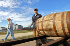 """<div class=""""source"""">KACIE GOODE/The Kentucky Standard</div><div class=""""image-desc"""">Barrels are rolled to waiting trucks, vans and cars for transport Monday morning at Willett Distillery as Kentucky craft brewers plann to use them for a brewing experiment.</div><div class=""""buy-pic""""><a href=""""/photo_select/91565"""">Buy this photo</a></div>"""