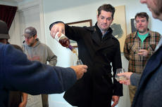 """<div class=""""source"""">KACIE GOODE/The Kentucky Standard</div><div class=""""image-desc"""">Master Distiller Drew Kulsveen ends a private tour with a tasting Monday as Kentucky craft brewers were welcomed to Willett Distillery as part of a new collaboration experiment.</div><div class=""""buy-pic""""><a href=""""/photo_select/91566"""">Buy this photo</a></div>"""