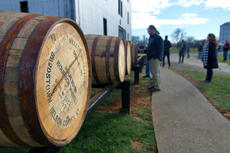 """<div class=""""source"""">KACIE GOODE/The Kentucky Standard</div><div class=""""image-desc"""">Barrels are rolled toward waiting trucks of Kentucky craft brewers early Monday afternoon at Willett Distillery. The Distillery and the Kentucky Guild of Brewers kicked off a collaboration project where the barrels will be used for a brewing experiment.</div><div class=""""buy-pic""""><a href=""""/photo_select/91570"""">Buy this photo</a></div>"""