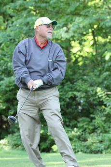"<div class=""source"">DENNIS GEORGE/Contributing Photographer</div><div class=""image-desc"">More than 400 golfers from around the country were in Bardstown over the weekend contesting the 69th edition of The Bourbon Open at Old Kentucky Home Country Club. Greg Masterson, Louisville, reacts to his tee shot. </div><div class=""buy-pic""></div>"