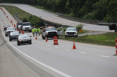 """<div class=""""source"""">RANDY PATRICK/The Kentucky Standard</div><div class=""""image-desc"""">Structural problems with a bridge over the Beech Fork River on the Bluegrass Parkway required closure of the eastbound lanes until crossovers could be built, which were finished and opened Thursday.</div><div class=""""buy-pic""""></div>"""