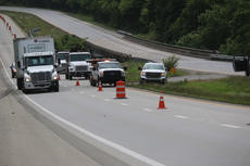 "<div class=""source"">RANDY PATRICK/The Kentucky Standard</div><div class=""image-desc"">Structural problems with a bridge over the Beech Fork River on the Bluegrass Parkway will necessitate closure of the eastbound lanes until repairs are made. For the next week or two, traffic between the two Bardstown exits will be detoured, then one lane of the westbound side will carry eastbound traffic.</div><div class=""buy-pic""></div>"