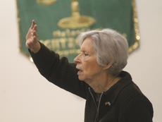 """<div class=""""source"""">RANDY PATRICK/The Kentucky Standard</div><div class=""""image-desc"""">Cindy Beck raises her hand in praise as she sings at the Mama Jo Nuckols Prayer Breakfast Saturday at Faith Worship Center.</div><div class=""""buy-pic""""></div>"""