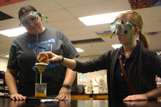 "<div class=""source"">JENNIFER GROTE/The Kentucky Standard</div><div class=""image-desc"">Samantha Netherland, a sophomore at Bardstown High School, works on a science experiment while her teacher, Alissa Clark, observes.</div><div class=""buy-pic""><a href=""/photo_select/54997"">Buy this photo</a></div>"