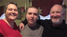 "<div class=""source"">Submitted Photo</div><div class=""image-desc"">Cody Mayfield poses for a photo with his parents Sonja and Mike. Cody, who had autism, passed away last March and his family has started a non-profit to honor his memory.</div><div class=""buy-pic""></div>"