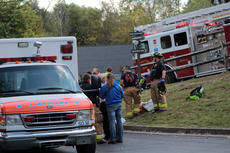 """<div class=""""source"""">KACIE GOODE/The Kentucky Standard</div><div class=""""image-desc"""">Nelson County EMS and Bardstown firefighters were called to East Broadway Tuesday afternoon after a juvenile on a bike collided with a van, crashing through the back windshield.</div><div class=""""buy-pic""""><a href=""""/photo_select/70208"""">Buy this photo</a></div>"""