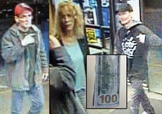 "<div class=""source"">Photos Submitted. </div><div class=""image-desc"">Bardstown Police are looking to identify these three people suspected of passing fake cash at Walmart. It's believed that the group could be connected to other reports across Central Kentucky and parts of Indiana. </div><div class=""buy-pic""></div>"
