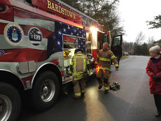 "<div class=""source"">Submitted photo</div><div class=""image-desc"">Bardstown firefighters prepare to leave the scene of a house fire on Creel Lane Sunday.</div><div class=""buy-pic""></div>"