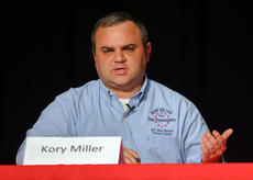 "<div class=""source"">KACIE GOODE/The Kentucky Standard</div><div class=""image-desc"">Kory Miller answers a question Thursday night during a live political debate between Democratic candidates for State Representative.</div><div class=""buy-pic""><a href=""/photo_select/95016"">Buy this photo</a></div>"