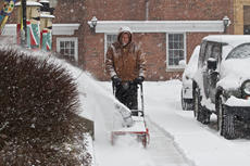 "<div class=""source"">PETER W. ZUBATY/The Kentucky Standard</div><div class=""image-desc"">A man clears snow off the sidewalk in downtown Bardstown in front of the old library. A few inches of snow fell on the area Wednesday morning, with more winter weather expected Friday.</div><div class=""buy-pic""><a href=""/photo_select/72861"">Buy this photo</a></div>"