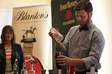 """<div class=""""source"""">KACIE GOODE/The Kentucky Standard</div><div class=""""image-desc"""">As guests watch, Jason Stark begins preparing his drink, the Rutledge Rebellion, to be served to the judges at Wednesday's Mixed Drink Challenge.</div><div class=""""buy-pic""""><a href=""""/photo_select/59817"""">Buy this photo</a></div>"""