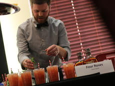 """<div class=""""source"""">KACIE GOODE/The Kentucky Standard</div><div class=""""image-desc"""">Jason Stark uses mint leaves as a garnish for his winning drink, """"The Rutledge Rebellion.""""</div><div class=""""buy-pic""""><a href=""""/photo_select/59818"""">Buy this photo</a></div>"""