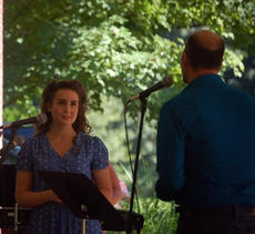 """<div class=""""source"""">TREY CRUMBIE/The Kentucky Standard</div><div class=""""image-desc"""">Cast members of """"The Stephen Foster Story"""" performed a variety of songs during a free concert Sunday in the rotunda at My Old Kentucky Home State Park. Clay Smith (right) performs with Trish Epperson on a song titled """"One Second and a Million Miles"""" from the musical """"The Bridges of Madison County."""" </div><div class=""""buy-pic""""><a href=""""/photo_select/68197"""">Buy this photo</a></div>"""