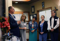 """<div class=""""source"""">KACIE GOODE/The Kentucky Standard</div><div class=""""image-desc"""">Rick Vancise speaks at the end of a tour of the Flaget Cancer Center. The hospital is currently working to improve the facility and resources for local cancer patients.</div><div class=""""buy-pic""""><a href=""""/photo_select/84939"""">Buy this photo</a></div>"""