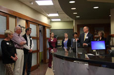 """<div class=""""source"""">KACIE GOODE/The Kentucky Standard</div><div class=""""image-desc"""">Guests tour the Flaget Cancer Center Thursday as part of a monthly tour for the hospital's Project Hope. Which includes several projects to improve the cancer facility in the near future.</div><div class=""""buy-pic""""><a href=""""/photo_select/84940"""">Buy this photo</a></div>"""