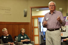 """<div class=""""source"""">KACIE GOODE/The Kentucky Standard</div><div class=""""image-desc"""">Jim Roby talks about his positive experience with the Flaget Cancer Center Thursday night during a monthly tour offered as part of the hospital&#039;s Project Hope.</div><div class=""""buy-pic""""><a href=""""/photo_select/84943"""">Buy this photo</a></div>"""