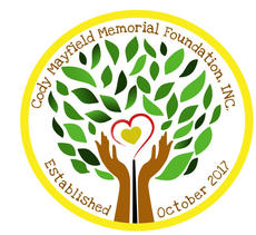 "<div class=""source"">Submitted Photo</div><div class=""image-desc"">The logo for the Cody Mayfield Memorial Foundation is symbolic of who Cody was. The heart in the center represents Cody's heart of cold and unconditional love; the hands represent his love of doing crafts and helping others in need; the tree represents branching out to a community in need; the open red heart and the black line represents Cody';s love of playing with a creation he called ""Flappy""</div><div class=""buy-pic""></div>"