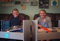 "<div class=""source"">KACIE GOODE/The Kentucky Standard</div><div class=""image-desc"">Tre and Faith Whitney are still on summer break, but when school does start, they've got everything they need. The two local children are home-schooled by their mom, Tammi, and have been for the past six years. Each working at a seventh-grade level, the kids enjoy their close-knit family and the flexibility of learning at home. </div><div class=""buy-pic""><a href=""/photo_select/78374"">Buy this photo</a></div>"