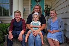"<div class=""source"">KACIE GOODE/The Kentucky Standard</div><div class=""image-desc"">Tammi Whitney sits infront of her Bardstown home with three of her four children. Son Tre and eldest daughter Faith are currently homeschooled by Tammi. Younger sister Monika, not pictured, was away at pre-school at Crocus Academy and youngest, Aubree, is not yet in school but stays involved with her family during the day. As public and private schools gear up for a new year this month, the Whitneys' homeschooling allows for a more flexible schedule and an extended summer break.</div><div class=""buy-pic""><a href=""/photo_select/78376"">Buy this photo</a></div>"