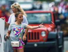 "<div class=""source"">KACIE GOODE/The Kentucky Standard</div><div class=""image-desc"">Candy is tossed to spectators Saturday during the Rolling Fork Iron Horse Festival parade in New Haven.</div><div class=""buy-pic""><a href=""/photo_select/98065"">Buy this photo</a></div>"