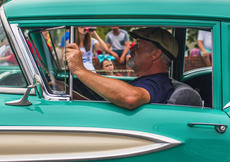 "<div class=""source"">KACIE GOODE/The Kentucky Standard</div><div class=""image-desc"">James Bradley drives through in an oldsmobile Saturday during Iron Horse Festival parade.</div><div class=""buy-pic""><a href=""/photo_select/98066"">Buy this photo</a></div>"
