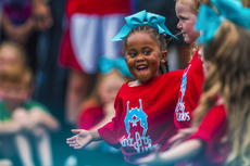 "<div class=""source"">KACIE GOODE/The Kentucky Standard</div><div class=""image-desc"">Kyrin Marshall grins at her fellow dancers during their performance with Dance Pro's Saturday at the Iron Horse Festival in New Haven.</div><div class=""buy-pic""><a href=""/photo_select/98069"">Buy this photo</a></div>"