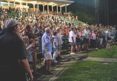 "<div class=""source"">KACIE GOODE/The Kentucky Standard</div><div class=""image-desc"">A large crowd gathered at the J. Dan Talbott Amphitheatre Monday night to hear Resurrection: A Journey Tribute, which kicked off the 2018 Live at the Park concert series.</div><div class=""buy-pic""><a href=""/photo_select/96253"">Buy this photo</a></div>"