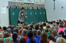 "<div class=""source"">KACIE GOODE/The Kentucky Standard</div><div class=""image-desc"">Author Julia Cook spoke with elementary school students at Foster Heights Friday morning as part of her tour through Bardstown and Nelson County schools. Cook  read some of her books about real-world problems and encouraged kids to pursue writing. Cook's stories range in topic from hygiene to anxiety and divorce.</div><div class=""buy-pic""><a href=""/photo_select/91474"">Buy this photo</a></div>"