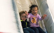 "<div class=""source"">KACIE GOODE/The Kentucky Standard</div><div class=""image-desc"">Children laugh and scream as they enjoy a turn on the slide during Bardstown Rotary Club's annual Kids Day in front of City Hall.</div><div class=""buy-pic""><a href=""/photo_select/98974"">Buy this photo</a></div>"