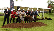 "<div class=""source"">PETER W. ZUBATY/The Kentucky Standard</div><div class=""image-desc"">Groundbreaking for the new Luxco Distillery was Monday in Bardstown, as local and state officials were among the guests helping turn over dirt at a ceremony on the Luxco property off of John Rowan Boulevard. Pictured are Kentucky Gov. Matt Bevin, Michele Lux, Luxco CEO and Chairman Donn Lux, Nelson County Economic Development Agency President Kim Huston, Nelson County Judge-Executive Dean Watts, Bardstown Mayor John Royalty and Luxco COO and President David Bratcher. The distillery is scheduled to begin production in late 2017.</div><div class=""buy-pic""><a href=""/photo_select/75702"">Buy this photo</a></div>"