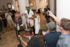 """<div class=""""source"""">PETER W. ZUBATY/The Kentucky Standard</div><div class=""""image-desc"""">Dan Callaway and Randi Densford handled the mixology work with a mad scientist's flair to wow the crowd Tuesday and win the 2018 Bourbon Capital Mixed Drink Challenge for the Bardstown Bourbon Company's Bottle & Bond bar. Their concoction, """"The Modern Prometheus,"""" will be the official cocktail for the 2018 Kentucky Bourbon Festival.</div><div class=""""buy-pic""""><a href=""""/photo_select/97014"""">Buy this photo</a></div>"""