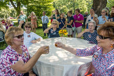 """<div class=""""source"""">FILE PHOTO/The Kentucky Standard</div><div class=""""image-desc"""">A toast is made during the 2018 National Bourbon Day celebration at Spalding Hall.</div><div class=""""buy-pic""""></div>"""