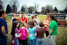 """<div class=""""source"""">KACIE GOODE/The Kentucky Standard</div><div class=""""image-desc"""">Kids answer questions about habitat Wednesday during the first meeting of the 4-H Nature Club.</div><div class=""""buy-pic""""><a href=""""/photo_select/74371"""">Buy this photo</a></div>"""