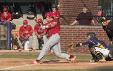"""<div class=""""source"""">PETER W. ZUBATY/The Kentucky Standard</div><div class=""""image-desc"""">Nelson County senior Cameron Lovvorn ripped this first-inning RBI double to put his team on top for good in the Cardinals' 5-0 win Thursday over Bardstown in the 19th District baseball championship.</div><div class=""""buy-pic""""></div>"""