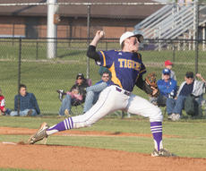 """<div class=""""source"""">PETER W. ZUBATY/The Kentucky Standard</div><div class=""""image-desc"""">Bardstown's Michael Clements allowed just three earned runs in a complete-game effort Thursday against Nelson County in the 19th District baseball championship, but got no support from his offense in a 5-0 loss.</div><div class=""""buy-pic""""></div>"""