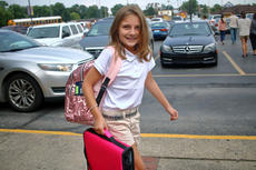 "<div class=""source"">KACIE GOODE/The Kentucky Standard</div><div class=""image-desc"">Students walk up to the entrance of Bardstown Elementary School ready to go Tuesday. Bardstown Independent Schools returned from summer break Tuesday and many parochial schools return today.</div><div class=""buy-pic""><a href=""/photo_select/88068"">Buy this photo</a></div>"