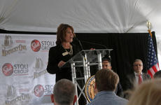 """<div class=""""source""""></div><div class=""""image-desc"""">Nelson County Economic Development Agency President Kim Huston led off the announcement Wednesday of the Stoli Group's purchase of the rock quarry from the Haydon family as the future home of Kentucky Owl.</div><div class=""""buy-pic""""><a href=""""/photo_select/90757"""">Buy this photo</a></div>"""