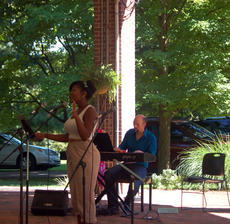 """<div class=""""source"""">TREY CRUMBIE/The Kentucky Standard</div><div class=""""image-desc"""">Cast members of """"The Stephen Foster Story"""" performed a variety of songs during a free concert Sunday in the rotunda at My Old Kentucky Home State Park. Chela North performed """"Stars and the Moon"""" from the musical """"Songs for a New World."""" </div><div class=""""buy-pic""""><a href=""""/photo_select/68199"""">Buy this photo</a></div>"""