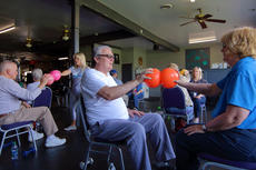 "<div class=""source"">KACIE GOODE/The Kentucky Standard</div><div class=""image-desc"">Participants team up for an exercise during a class with Traci Melgar at Darkside Athletics last week. the class was held for the local Parkinson's support group.</div><div class=""buy-pic""><a href=""/photo_select/94749"">Buy this photo</a></div>"