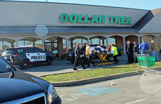 "<div class=""source"">KACIE GOODE/The Kentucky Standard</div><div class=""image-desc"">A pedestrian was treated by EMS and taken to Flaget Saturday morning after he was clipped by a vehicle while crossing the parking in front of the Dollar Tree.</div><div class=""buy-pic""><a href=""/photo_select/72418"">Buy this photo</a></div>"