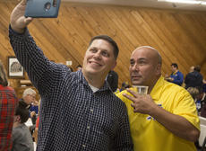 "<div class=""source"">PETER W. ZUBATY/The Kentucky Standard</div><div class=""image-desc"">Ramon Pineiroa, right, celebrates with Joedy Gilliland after winning his bid for Nelson County sheriff.</div><div class=""buy-pic""><a href=""/photo_select/99351"">Buy this photo</a></div>"