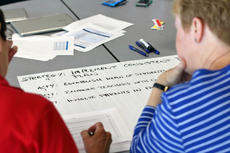"""<div class=""""source"""">KACIE GOODE/The Kentucky Standard</div><div class=""""image-desc"""">Col. Donna Lucchese's group lists out ideas to implement consistent discipline in schools during Tuesday's planning session on safety for Nelson County Schools.</div><div class=""""buy-pic""""><a href=""""/photo_select/87539"""">Buy this photo</a></div>"""