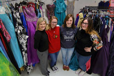 """<div class=""""source"""">KACIE GOODE/The Kentucky Standard</div><div class=""""image-desc"""">The """"Fairy Godmothers"""" at Nelson County High School have organized efforts to help girls in need find prom dresses and formal attire for other occasions. The Cinderella's Closet will be open for all girls from 5-8:30 p.m. on Friday at the NCHS cafeteria. Pictured are teacher Courtney Briney and students Madelyn Washburn, Janet Newton and Erin Neal.</div><div class=""""buy-pic""""><a href=""""/photo_select/93649"""">Buy this photo</a></div>"""